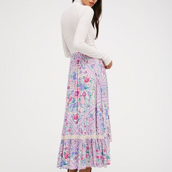 Free People Babushka Scarf Skirt