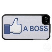 Funny Like A Boss Internet Meme iPhone 4 Case from Zazzle.com