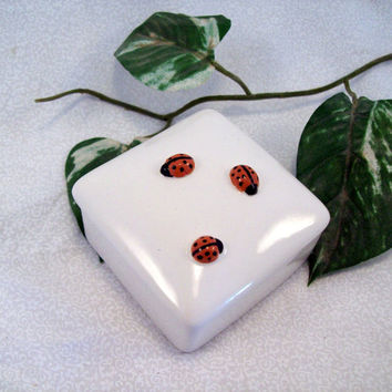 Lady Bug Ceramic Keepsake Box