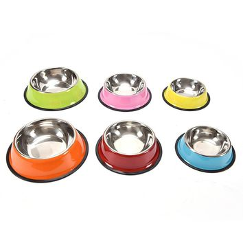 Stainless Steel Dog Bowls Pet Food Water Drink Dishes Feeder for Cat Puppy Pet Dog Feeder Bowls