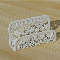 Blooming Business Card Holder- White