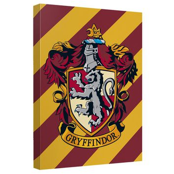 Harry Potter - Gryffindor Crest Canvas Wall Art With Back Board
