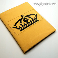 Corona Covered Journal - Removable & Reusable Fabric Cover - Made from Upcycled T-Shirt