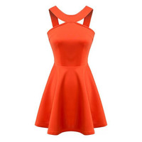 Cotton Strapless Dress One Piece Dress [5013284996]