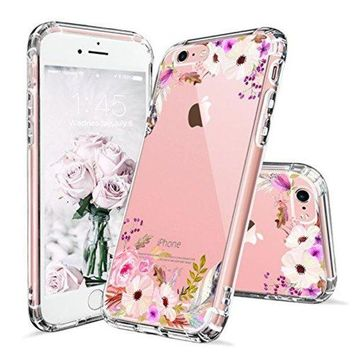 LMFXT3 iPhone 6s Case, Cover iPhone 6s, MOSNOVO Colorful Floral Printed Flower Pattern Clear Design Transparent Plastic Hard Slim Case with TPU Bumper Protective Case Cover for Apple iPhone 6 6s (4.7 Inch)