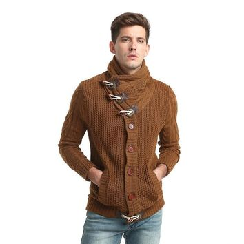 WSGYJ Brand Sweater Autumn Winter Fashion Casual Cardigan Sweater Coat Men Loose Fit 100% Acrylic Warm Knitting Clothes Sweater