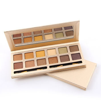 12-color Long-Lasting Matte/Pearl Natural Eye Shadow Makeup Palette [11043709388]