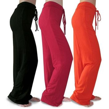 High Quality Women Plus Size Modal Trousers Sports Dance Yoga Pants = 5660410881