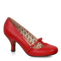 Bettie Page Cassie Red Pumps