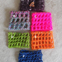 Candle Deco Covers, crochet candle cover, colorful decorative for small candle