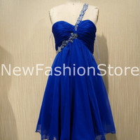 A Line Sweetheart Neckline Crystals Short Prom Dress Party Dress
