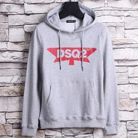 Dsquared2 Fashion Hooded Print Long Sleeve Top Sweater Hoodie-1