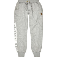 River Island MensGrey 26 Million print joggers