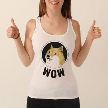 Doge Wow Much Women's Tank - Tank Top - Grey or White Shirt - 187
