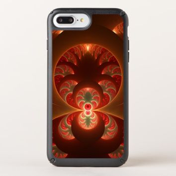 Luminous abstract modern orange red Fractal Speck iPhone Case