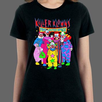 Killer Klowns T-Shirt - Saturday Morning Killer Klowns - Womens Shirt - Fright-Rags