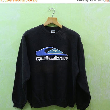 15% SALES Vintage Quicksilver Surfing Surf Pipeline Aloha Hawaiian Sport Summer Skateboard Sweater Sweatshirt