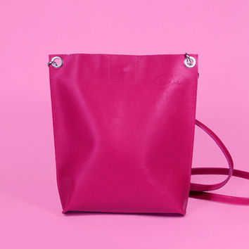 "High Quality Handmade Italian Leather Bag ""Monica Surime""/ Lilac Shoulder Bag  / Crossbody bag / Bag for iPad mini"