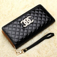 Multifunctional Zipper Purse Clutch Wallet