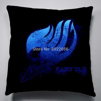 Anime Manga Fairy Tail Pillow 40x40cm Pillow Case Cover Seat Bedding Cushion 006