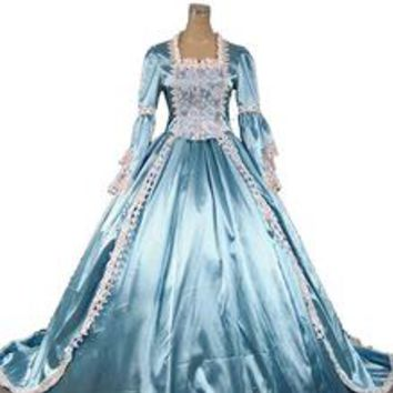Marie Antoinette Gothic Victorian Ball Gown  Wedding Party  Dress Reenactment Prom Dresses