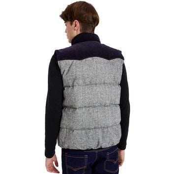 Men Thick Patchwork Wool Down Vest Autumn And Winter Outerwear Coats Vest Down Clothing