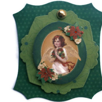 Christmas angel, Scrapbook embellishment, Paper piecing, paper flower, gift tags, Scrapbooking Layouts, Cards, Mini Albums Paper Crafts
