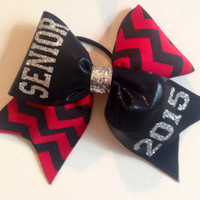 Red Chevron Senior 2015 Cheer Bow