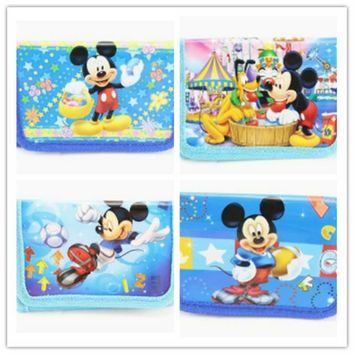1pcs mickey mouse cartoon kids boymini coin purse wallets