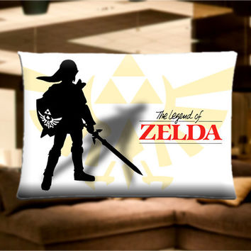 "The legend of Zelda Pillow Case Cover Bedding 30"" x 20"" Great Gift"