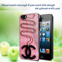 Logo Chanel iPhone 4/4S Case Hard Cover Plastic