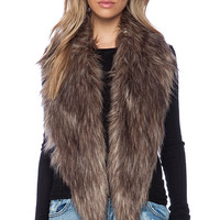 Unreal Fur Fur-Niche Stole in Brown