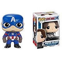 Funko POP Captain America Civil War: Captain America and Winter Soldier 2 Piece BUNDLE