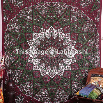 Large Psychedelic Tapestry , Hippie Tapestries , Sun and Moon Tapestry, bohemian tapestries, Hippie Dorm Tapestries, Tapestry Wall Hanging