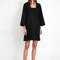 PELOTE SHORT DRESS - BLACK | Apiece Apart