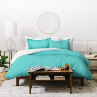 DENY Designs Eggshell Blue 325c Duvet Cover