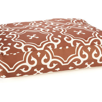 Medallion Dog Bed, Brown/White, Pet Beds