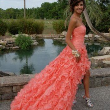 Ball Gown Sweetheart High-low Asymmetrical Prom Dress