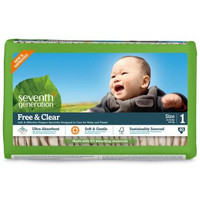 Seventh Generation Baby Diaper - Stage 1 / 8-14  lb - 4 Packs