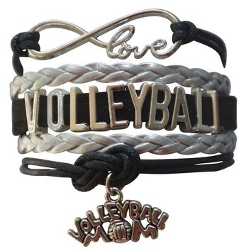 Volleyball Mom Infinity Bracelet