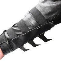 BladesUSA YC-709 Martial Arts Arm Cuff with Metal Spikes, Black, 9-1/2-Inch Length