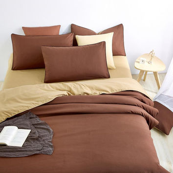 Retro Style Bedding Sets brown Bed Sheet