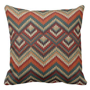 """""""Realistic Knitted Pattern"""" THROW PILLOW"""