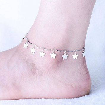 LMFCT9 Stylish Gift Ladies Sexy Jewelry New Arrival Shiny Cute Silver Korean Strong Character Accessory Anklet [10427400532]