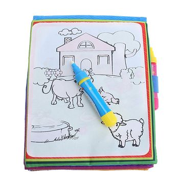New arrives Magic Kids Water Drawing Book Animals Painting Water Coloring Book Toy+2 x Watercolor Pens  Educational Toy