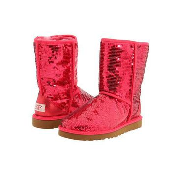 Ugg Boots Black Friday 2016 Classic Short Sparkles 3161 Ruby Red For Women 114 45