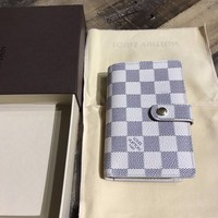 100% Authentic LOUIS VUITTON LV Damier Azur Portefeuille Wallet Free shipping!
