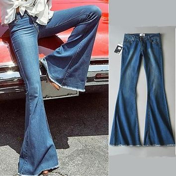 Stretch Jeans Ladies Pants Slim Loudspeaker [66694676505]