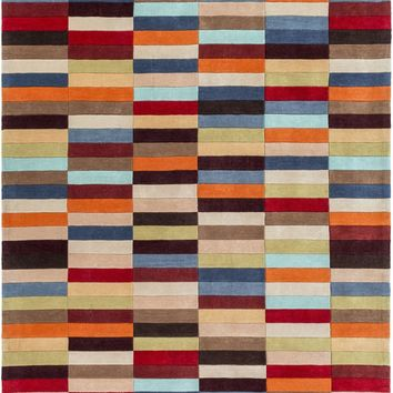 Cosmopolitan Geometric Area Rug Multi-Color