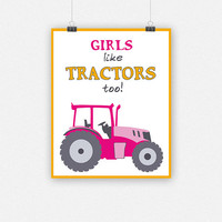 Girls like TRACTORS too!